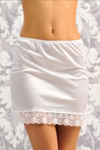 Damen Unterrock mit Spitze  schwarz Minirock  Unterkleid beige weiß Spitzenborte