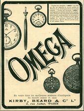 Publicité ancienne bijoux montres Omega 1906 issue de magazine