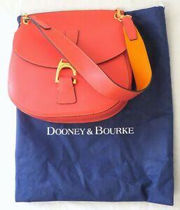 Dooney & Bourke Coral Pink Leather Structured Shoulder Bag Purse