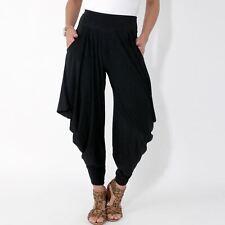 Womens Harem Pants Ali Baba Leggings Boho Trousers Genie Wide Flared Summer