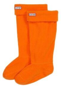 New Ladies Hunter Boots Fleece Welly Socks Orange Size Medium Fits 3 4 5