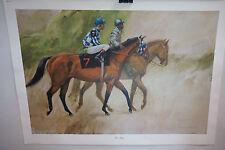 VINTAGE HORSE PRINT HENRY KOEHLER RIVA RIDGE KENTUCKY DERBY RACE SIGNED 1973