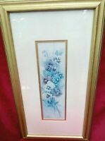 Lena Liu Signed Numbered LTD Ed Lithograph Pansies & Sweet Peas 121/2950 Framed