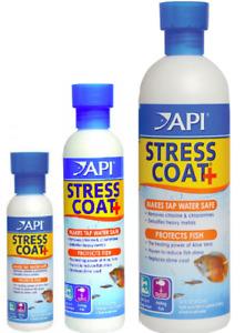 API Stress Coat 118ml 237ml 473ml 1.9 litre Tap Safe Water Chlorine Aquasafe