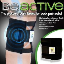 Black Be active Brace Point Pad Leg for Back Pain Acupressure Sciatic Nerve LA