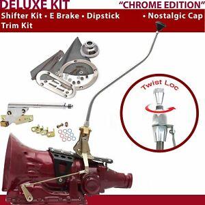 TH350 Shifter Kit 23 Swan E Brake Trim Kit Dipstick For DEC1B