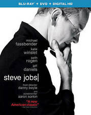 STEVE JOBS Blu-Ray + DVD + Digital HD + slipcover NEW 2015