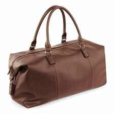 Duffle Bag Faux Leather Holdall Hand Luggage Weekend Overnight Bag Weekender