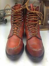OXBLOOD  RED WING VINTAGE MADE IN USA ENGINEER TRAIL BOSS BOOTS 9-10.5 M D
