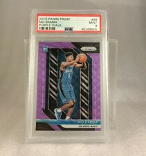 Mo Bamba Purple Wave Panini Prizm 2018/19 PSA9 Mint Rookie Card Orlando Magic RC