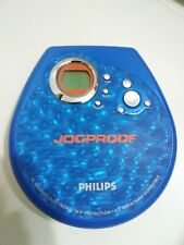 Philips Portable Cd Player/case jOgproof Skip Protection Blue/silver tested
