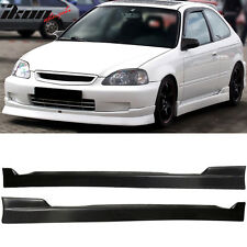96-00 Honda Civic CS Style 2DR 3DR Coupe Hatchback Side Skirts Pair PU