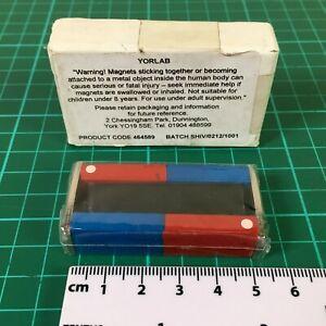 Educational Bar Magnets Set 50mm long Science & Education (1 Set of 2 magnets)