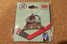 Colorado Avalanche logo lapel pin silver tone zanac