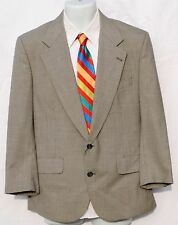 Nordstrom Plus One, Men's 2 piece suit 40S, 100% Wool, Gray Hounds Tooth fabric