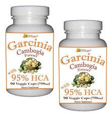 2 ~ GARCINIA CAMBOGIA 95% HCA Stronger than 70% HCA 90 Vegetarian Capsule 750mg