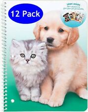 12ct Mead Purrs & Grrrs 1-Subject Wide Ruled Notebook with 50+ Stickers