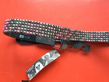 """**Lowlife Leather Belt in PINK and SILVER Stud Design -BNWT-X Small 24""""-28""""**"""