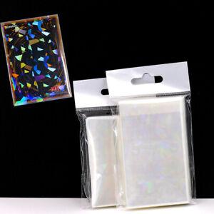 50Pcs Broken Gemstone Laser Card Holographic Idol Photo Card Sleeves Protector