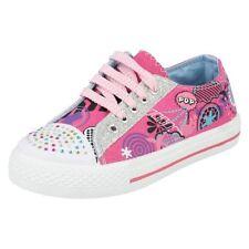 Chaussures à lacets en toile pour fille de 2 à 16 ans pointure 33