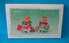 """Longaberger """"Roger & Ginger"""" Gingerbread Cookie Mold 2000  NIB"""