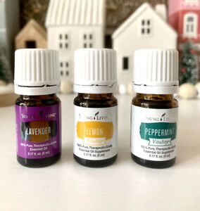 Young Living Essential Oils Lavender, Peppermint, Lemon Vitality 5ml NEW SEALED