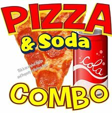 "Pizza Soda Combo Decal 14"" Italian Restaurant Concession Food Truck Sticker"