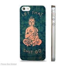 BHUDDA SPIRITUALIST HUMOUR  CASE FITS IPHONE 4 4S 5 5S 5C 6 6S 7 8 SE PLUS X