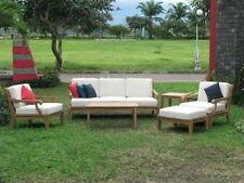 Sack A-Grade Teak Wood 6pc Sofa Lounge Chair Set Outdoor Garden Patio New