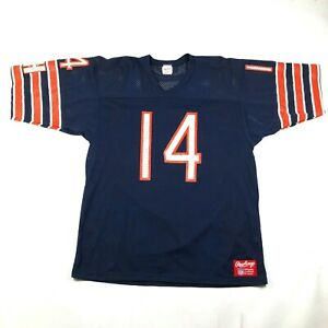 Vintage 90s Chicago Bears #14 Brian Griese Mens XL Football Jersey Blue Orange