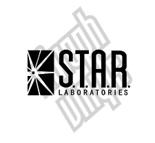 Star Labs Laboratories the flash vinyl sticker decal car window optional arrow