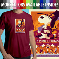 Unisex Mens Tee Crew T-Shirt Charlie Brown Thanksgiving Peanuts Snoopy Comics
