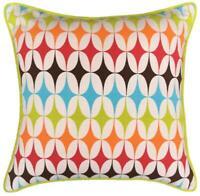 Filled  Multicoloured Carlo Cushion 100% Cotton 45x45cm