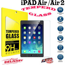 100% REAL Genuine Tempered Glass Film Screen Protector For Apple iPad AIR AIR 2