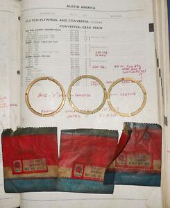 NOS BMC Thrust Washers 22A546, 22A547, & 22A549. Austin Mini Cooper 1275 & S -->