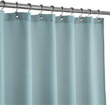 Waffle Weave Fabric Shower Curtain 230 Gsm Heavy Duty, Spa, Hotel Luxury, Water