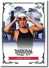 JANET EVANS 2013 LEAF NATIONAL EXCLUSIVE COLLECTORS PROMO CARD!