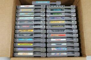 Discounted Nintendo NES Lot Of 25 Games - Ninja Gaiden, Donkey Kong, Super Mario