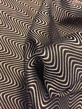 "100% Pure Silk Fabric Remnant 52"" Wide 1 Yard 5"" Long Geometric"