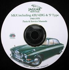 Jaguar Mk X, 420, 420G & 'S' Type Parts and Service Manual on CD-ROM (Used)