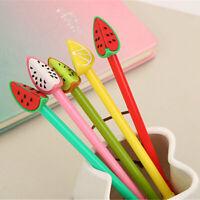 6pcs Cute Cartoon Kawaii Fruits Gel Ink Roller Ball Point Pen School Kids