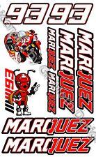 Laminierte Repsol Honda Marquez Marc 93 Aufkleber Set Logo Sheet 10 Stickers