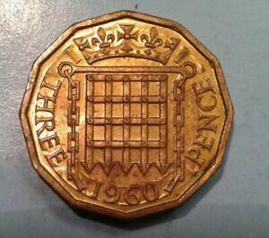 United Kingdom 3 Pence coin 1960