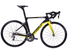 Tropix Paris 700c Wheel Road Bike 52cm Lightweight Carbon Frame Black/yellow