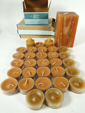 New ListingPartylite Tamboti Safari 28 Tealights + 2 Votives + Wood Grain Piller Candle Lot