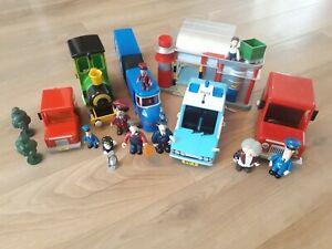 Postman Pat Toy Bundle Sorting Office Trains Figures Police Car Van Pencaster