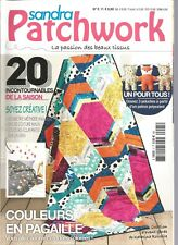 SANDRA PATCHWORK N°05 PELUCHES / GEOMETRIE METHODE ANGLAISE / COULEURS