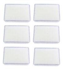 6 PCS OF WHITE CLEAR PLASTIC JEWELRY GEM COIN DISPLAY BOX JAR SHOW CASE 6x8x2 CM