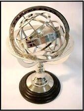 "Handmade Nautical Design Sphere Globe World Map Chrome Brass Armillary 11.5""Inch"