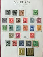 GERMANY 1946 Joint allied occupation zone used/MH, 26 stamps, on album page